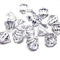Acrylic Crystal Hanging Decor, 1-inch, 100-piece, Clear