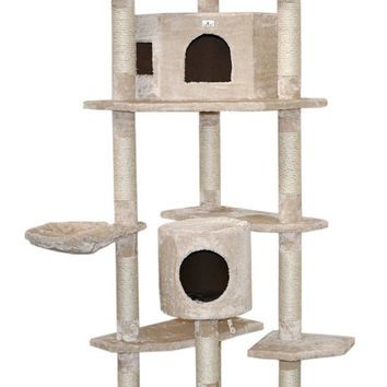 Deluxe Cat PlayHouse Tree Multi Level Condo Furniture Scratch Post Pet House CM-1225