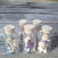 Real Teeth And Bones,Fairy faerie Bottle Vial,Pearls and crystrals Strange Weird Curiosities taxidermy oddities, Witchcraft wiccan pagan