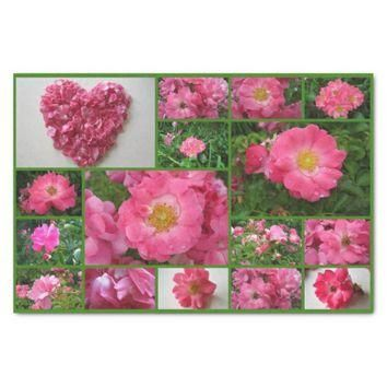 "Rose Collage Pink Supreme-Tissue Wrap Paper 10"" X 15"" Tissue Paper"