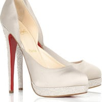 Christian Louboutin Eugenie satin pumps - $230.00