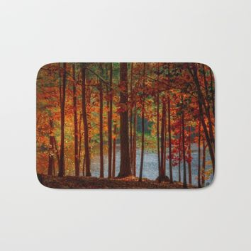 Dark Forest Bath Mat by Scott Hervieux