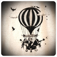 TShirt Screenprint Tshirt Hot Air Balloon shirt by Carouselink