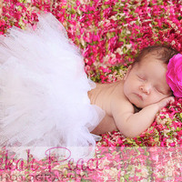 White Tulle Tutu- Newborn ,Toddler, Photo Prop
