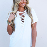 Cross My Heart Tee {Ivory}