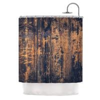 "Susan Sanders ""Barn Floor"" Rustic Shower Curtain"