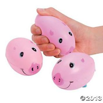 Relaxable Pig Footballs - Oriental Trading