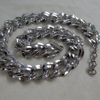 Chunky Double Link Necklace