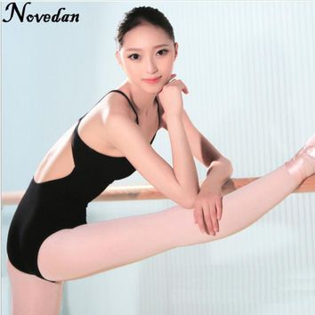 Adult Ballet Leotards Bodysuit Black Backless Sleeveless Ballet Dance Wear Sexy Open Back Gymnastics Leotard For Women