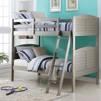 Aaliyah Grey Bunk Bed with Ladder