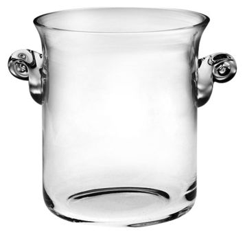 "Majestic Gifts T-704 Quality Glass Ice Ice Bucket / Cooler, 8""H"