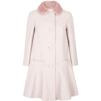 Red Valentino Mink Collar Coat | Harrods