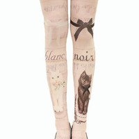 Noir et Blanc Tattoo Tights