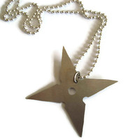 ninja star shuriken necklace ninja cosplay