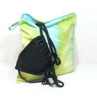 Tie Dye Wet Bag, Waterproof Bag, Pool Wet Bag, Wet Bag for Travel, Aqua Green Tie Dye, Waterproof Zip Bag, Bag for Pool, Leak Proof Bag