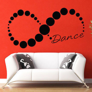 Wall Decal Quotes Dance Infinity Decal Bedroom Sport Gym Vinyl Home Decor MR666