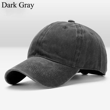 Men's Vintage Washed Dad Hat Plain Baseball Caps Curved Visor Polo Hat