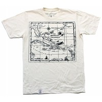 Bermuda Triangle 1: Men's Organic Fine Jersey Short Sleeve T-Shirt in Unbleached Natural