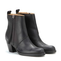 acne studios - pistol short leather ankle boots