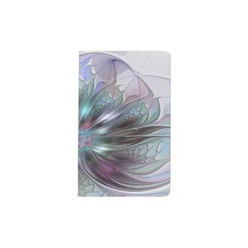 Colorful Fantasy, abstract and modern Fractal Art Pocket Moleskine Notebook
