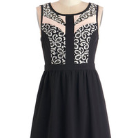 ModCloth Short Length Sleeveless A-line Blushed a Move Dress