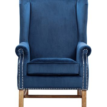 Nora Navy Velvet Chair