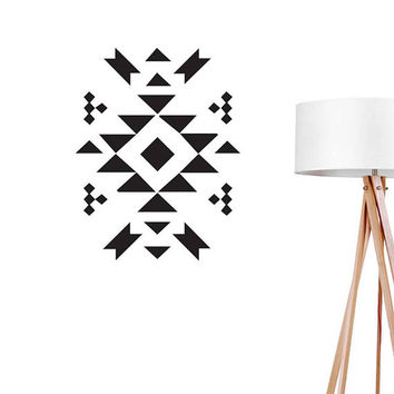 Aztec Pattern Wall Decal, Geometric Sticker, Boho Desert, Tribal Art Decal, Ethnic Sticker, Office Decor, Aztec Decal, Scandinavian Sticker