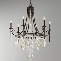 Feiss Cascade Chandelier - F2660-6HTBZ