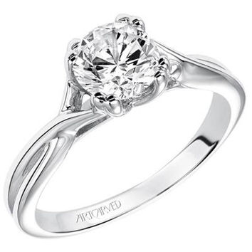 "Artcarved ""Solitude"" Twist Diamond Engagement Ring"
