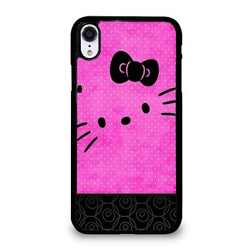 HELLO KITTY PINK BLACK iPhone XR Case