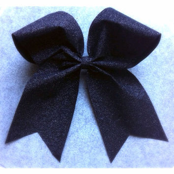 Black Sparkle Cheer Bow