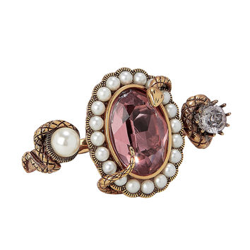 Snake Jewel Double Ring