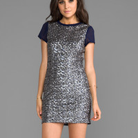 heartLoom Mallory Sequin Dress in Navy