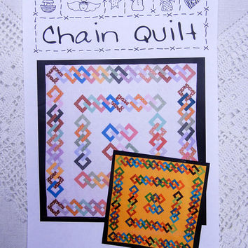Chain Quilt Pattern by Quilt Country, Complete and Like New Designed by Suzanne Maas (2005)