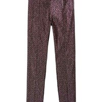 Glittery treggings - Black/Pink glittery - Ladies | H&M GB