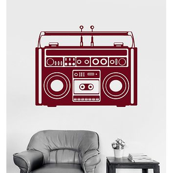Vinyl Wall Decal Tape Recorder Music Vintage Old Art Musical Decor Stickers Unique Gift (ig3042)