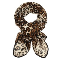 50's Glamour Leopard Scarf