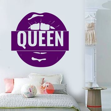 Vinyl Wall Decal Logo Queen Sexy Lips For Girls Stickers (2575ig)