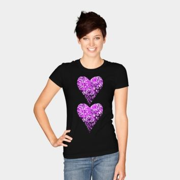 Two Sparkling Hearts T Shirt By Bunnynoir Design By Humans