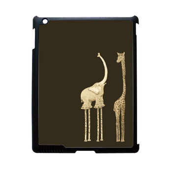 Elephant And Giraffe iPad 3 Case