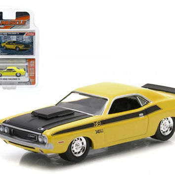 1970 Dodge Challenger T-A Lemon Twist 1-64 Diecast Model Car by Greenlight