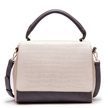 Sole Society Agnes Structured Croc Satchel