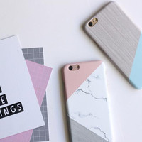 Creative color geometry phone case for iPhone 7 7plus 6 6S 6plus 6Splus 1109J01