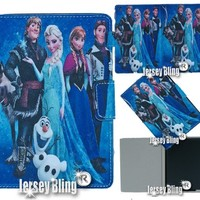 FROZEN iPad 2,3 or 4 Disney Gift Set Incl: Faux Leather PVC Case with FREE Stylus