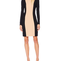 Michael Kors  Two-Tone Stretch-Wool Dress