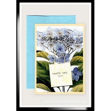 Thank You Hydrangea Folded Greeting Card // Min. Case Pack of 6