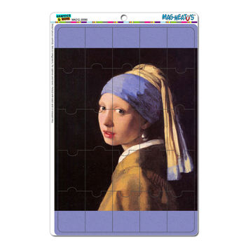 Girl With the Pearl Earring - Vermeer MAG-NEATO'S TM Puzzle Magnet