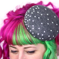 Galaxy Stars Pill Box Hat, Winter Wedding Hat, Various Colours