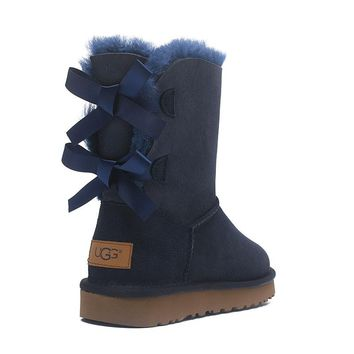 UGG Butterfly Knot Classic Snow Boots