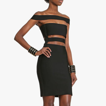 Sexy Off The Shoulder Bandage Dress 2112